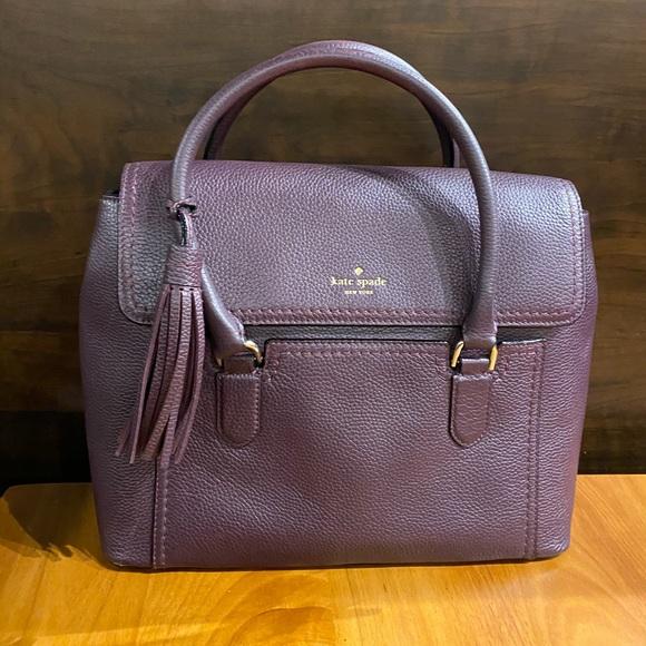 Kate Spade ♠️ Dark Plum Leather Bag